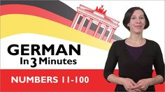 Learn German - German in Three Minutes - Thank You & You're Welcome in German German Language Learning, Learn A New Language, Welcome In German, Counting For Kids, Numbers 1 10, German Words, Learn German, Listening Skills, Library Programs