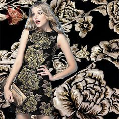European style thick black brocade fabric with brown/gold thread jacquard/bronzed for suits/dress , dobby fabric SP953-in Fabric from Home & Garden on Aliexpress.com | Alibaba Group