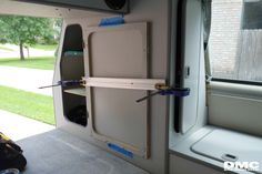 Adding a door to the closet for better access. If you have the nerve to drill, and saw in your precious van the this should be in the top 5 of your van, non mechanical, upgrades.