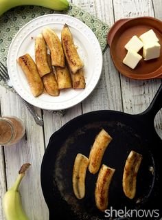 Brazilian-style fried bananas are all gooey sweetness and so, so easy. #desserrt