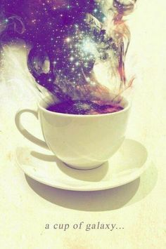 a coffee cup of galaxy