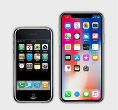 7iPhone 2G 2007 - iphone X 2017