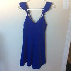NWT Sexy Blue Midi Dress Sleeveless short dress Dresses Midi
