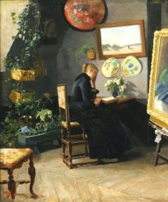 The Studio Interior (1883) - Kitty Kielland