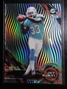 2015 Topps High Tek Grass Pattern #111 Jay Ajayi Dolphins Rookie Football Card #MiamiDolphins