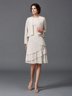 b86649af3c6 Asymmetrical Mother of the Bride Dresses Simple with Jacket
