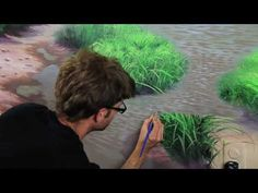 How to paint stars with twinkles - Mural Joe - YouTube