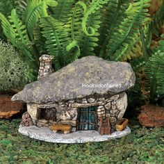 Georgetown Micro Rock Top Troll HouseAdd some character to your Fairy Garden with this little troll house.Items similar to Micro Mini Rock Blue Door Troll House on Outstanding Diy Fairy Garden Furniture Design Ideas - Fairy gardens are a varia Garden Furniture Design, Fairy Garden Furniture, Fairy Garden Supplies, Gardening Supplies, Magic Garden, Mini Fairy Garden, Fairy Garden Houses, Gnome Garden, Fairy Gardening