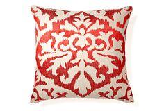 Ikat 20x20 Pillow, Red on OneKingsLane.com