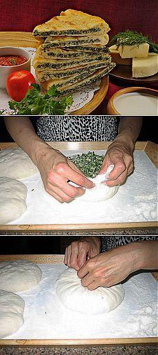 Осетинские пироги с сыром и зеленью - -рецепт. Рецепт, как приготовить осетинские пироги с сыром | Добрые вегетарианские рецепты с фото и видео