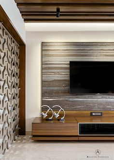 Lcd screen design tvs Ideas for 2019 Wall Unit Designs, Tv Wall Design, Tv Unit Design, Screen Design, Interior Design Living Room, Living Room Designs, Interior Decorating, Lcd Units, Pvc Wall Panels
