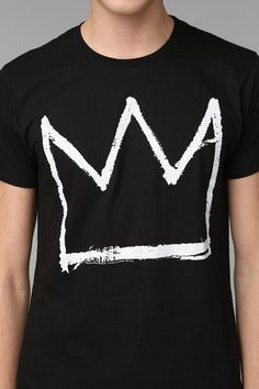 Junk Food Basquiat Crown Tee Available at Urban Outfitters. www.junkfoodclothing.com #junkfoodtees #urbanoutfitters