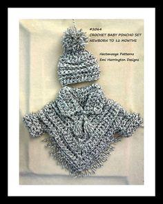 Baby crochet pattern baby poncho set crochet baby sweater