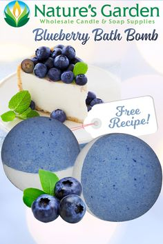 Free Blueberry Bath Bomb Recipe by Natures Garden.