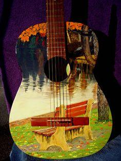 Have Fun - Learn Guitar Ukulele Art, Guitar Art, Guitar Tattoo, Guitar Songs, Fender Acoustic Guitar, Fender Guitars, Guitar Painting, Hippie Art, Classical Guitar