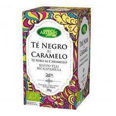 Té Negro con Caramelo Ecológico de Artemis. Para los más golosos, sorprendente mezcla de Té negro aromatizado al Caramelo.