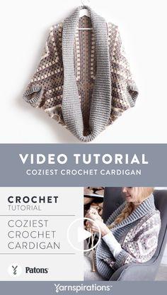 Crochet A Cardigan: Coziest Crochet Cardigan : Free Crochet Cardigan Pattern Crochet Cardigan Pattern, Granny Square Crochet Pattern, Crochet Jacket, Crochet Granny, Crochet Patterns, Shawl Patterns, Square Patterns, Knitting Patterns, Crochet Cocoon