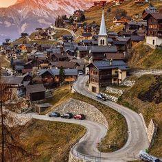 At the Vernamiège village in Switzerland.
