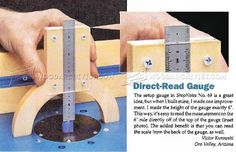 Router Height Gauge - Marking Tips, Jigs and Techniques   WoodArchivist.com