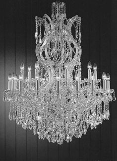"Maria Theresa Chandelier Crystal Lighting Chandeliers Dressed With Empress Crystal (Tm) H 50"" W 37"" Great For Large Foyer / Entryway - G83-Cs/2232/24+1"