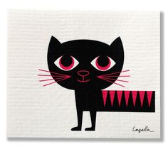 My fav black cat with hot pink details