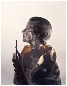 Ruth Knowles in a variant of a cover photo for Vogue by Erwin Blumenfeld, 1949