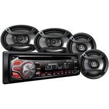 """Walmart: Pioneer Complete Car Audio Package, DXT-X2669UI, 200W Stereo with Two 6.5"""" Speakers and Two 6"""" x 9"""" Speakers"""