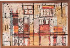 One Kings Lane - Haskell Antiques - Midcentury Abstract by Saltzman
