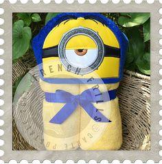 Yellow Follower Stuart hooded towel design. #Embroidery #Applique