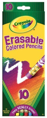 crayola 10 count erasable colored pencils by crayola 617 made from reforested wood which - Crayola Write Start Colored Pencils