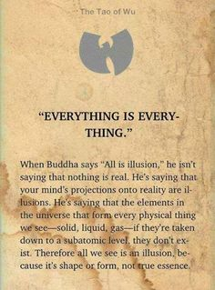 Everything... Buddha