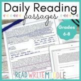 Digital Bell Ringers Reading Comprehension Distance Learni Reading Passages, Reading Comprehension, Bell Ringers, Middle School Reading, Context Clues, Reading Strategies, Teacher Pay Teachers, Distance, Poetry