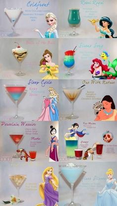 Party Themes Drinking Disney Cocktails 57 Ideas Party-Themen Trinken von Disney-Cocktails 57 I Disney Cocktails, Cocktail Disney, Disney Themed Drinks, Disney Alcoholic Drinks, Disney Mixed Drinks, Disney Themed Party, Party Drinks, Cocktail Drinks, Fun Drinks