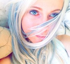 Light blue and blond hair color