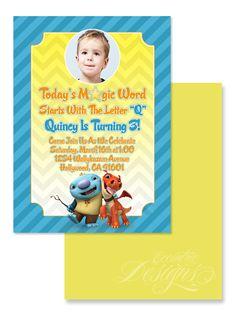 Wallykazam - Digital Birthday Party Invitation / Child Party Ideas / Children Party Themes / Children Invites / Children Invitations / Kid Party Ideas / Kid Invitations
