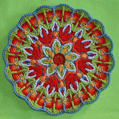Crocheted mandalas