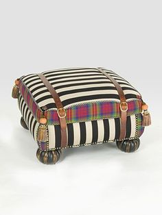 MacKenzie-Childs Courtly Campaign Ottoman