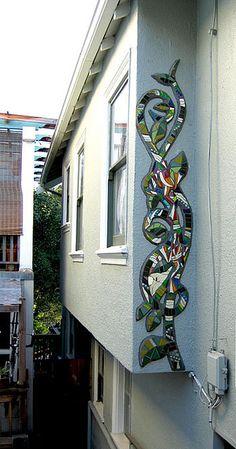 Vine Mosaic Mural