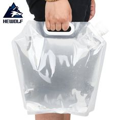 Hewolf 5L Outdoor Protable Folding Water Bag Emergency Liquid Storage Water Bag Camping Collapsible Liquids Container #Affiliate