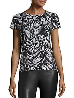 Saks Fifth Avenue Collection - Cashmere Leopard-Print Sweater