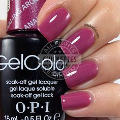 OPI GelColor Hawaii Collection - Just Lanai-ing Around Opi Gel Nail Colors, Opi Gel Polish, Opi Gel Nails, Gel Polish Colors, Gel Color, Shellac, Manicures, Cute Nails, Pretty Nails