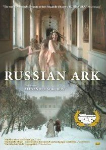 Russian Ark, director Aleksandr Sokurov  -- a trip  through The Hermitage museum and Russian history, with ghosts , and a just-awakened-from-a -dream narrator.  All filmed in one continuous shot .