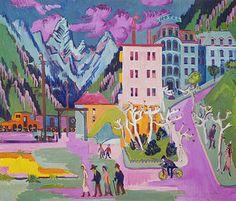 Ernst Ludwig Kirchner: Bahnhof Davos. 1925