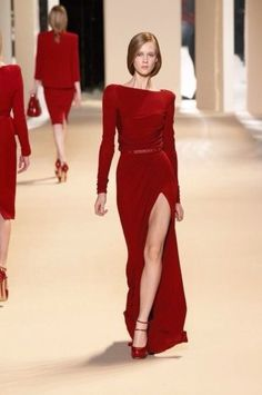 Red dress from elie saab