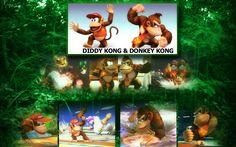 Diddy Kong & Donkey Kong Diddy Kong, Wii Games, Donkey Kong, Super Smash Bros, Videogames, Characters, Animation, Wallpaper, Books