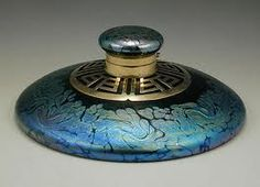 Loetz for E. Bakalowits & Sons - Inkwell with Brass Collar - Vienna - 1905