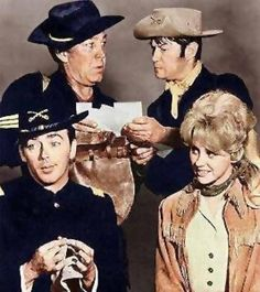 F Troop - (1965-67). Starring: Forrest Tucker, Larry Storch, Ken Berry, Melody Patterson, Frank Dekova, James Hampton, Bob Steele, Joe Brooks, J. Pat O'Malley and James Gregory. Partial Guest Cast: Harvey Korman, Don Rickles, Milton Berle, Jack Elam, Lee Meriwether, Vincent Price, Paul Lynde, Zsa Zsa Gabor, Julie Newmar, George Gobel, Bernard Fox, Pat Harrington Jr., Victor French, Vic Tayback, Paul Petersen and Jamie Farr.