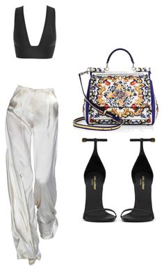 """Untitled #352"" by styledbystephxx on Polyvore featuring Yves Saint Laurent and Dolce&Gabbana"