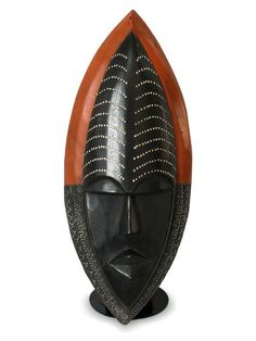 Be Patient Ghanaian Wood Mask by NOVICA