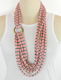 Infinity Scarf Necklace Fabric Necklace